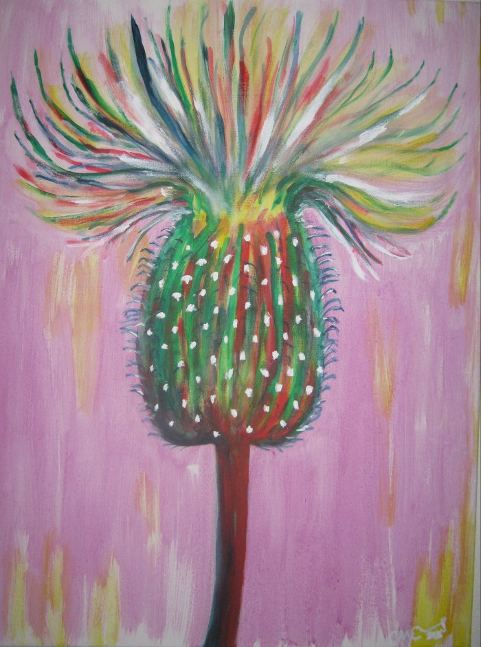 Distel, painted by Clive Ewing, 60x80cm, acrylic, canvas